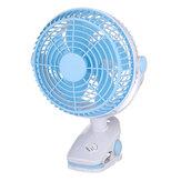 Portable Cooling Fan Clip on Fan USB Powered Clip Desk Fan Quiet Mini Personal Fan