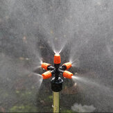5 Head Adjustable Nozzles 360° Automatic Rotating Mist Spray Lawn Sprinkler Atomizer Garden Watering Accessory