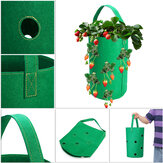 Hanging Non-Woven Felt Vertical Planter Bag 11x Pockets For Strawberry Planting Grow Box