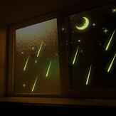 3D enfants chambre fluorescente lueur dans les étoiles sombres lune stickers muraux en plastique