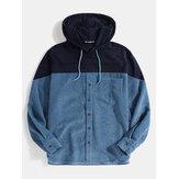 Sweats à capuche décontractés à cordon de serrage pour hommes avec poche
