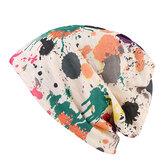 Donne Doppio Hat Sciarpa Colori Colore Stampa Striscione Capo Coperchio Multifunzione Collo Sciarpe