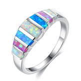 Unisex Trendy Colorful opale casual anelli da sposa Jewerly