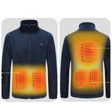 Elektrikli Isıtmalı Ceketler Outdoor Yelek Ceket USB Uzun Kollu Elektrikli Isıtma Kapüşonlu Ceketler Sıcak Kış Termal Giyim