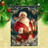 30x45cmクリスマスサンタクロースポリエステルウェルカム庭休日の装飾