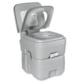 20L Portable Toilet Flush Potty Bucket Seats Mobile Toilet Indoor Outdoor Camping Travel