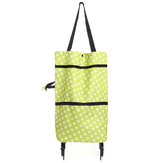 Portable Shopping Trolley Wheels Folding Luggage Cart Bag
