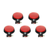 5Pcs Rojo luz LED 60mm Arcade Video Game Player Interruptor de botón