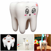 4 Holes Smily Face Toothbrush Holder Rack Cartoon Design Toothbrush Bracket
