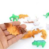 68PCS Plastic Farm Yard Wild Animals Fence Tree Modèle Enfants Jouets Figurines Jouer Nouveau