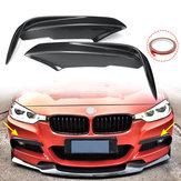 Fibre De Carbone Racing Avant Splitters Lip Fit Voiture Spoiler Wing Protecteur pare-chocs Pour BMW Série 3 F30 M Sport Berline 2013-2017