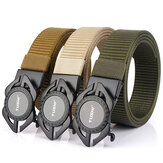 ENNIU Automatic Metal Buckle Breathable Nylon Tactical Belt Fashion Leisure Canvas Waist Belt