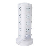 Vertical Power Socket Powerboard Outlet Plug Extension Multi USB Ports Charger Socket Power Strip