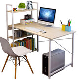 Computer Office Desk Office Workstation with 4 Tiers Bookshelves for Home Office