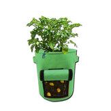 1 / 3pcs 26 / 38L Cultivo de papa Bolsa Jardinera de verduras Bolsa Cultivo de maceta Bolsa con mango