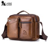 Men Genuine Leather Crossbody Bag Earphone Cowhide Bag