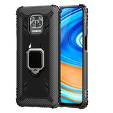 Bakeey for Xiaomi Redmi Note 9S / Redmi Note 9 Pro / Redmi Note 9 Pro Max Case Carbon Fiber Pattern Armor Shockproof Anti-fingerprint with 360° Rotation Magnetic Ring Bracket PC Protective Case Non-original