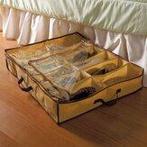 12 pares de zapatos de almacenamiento Caja debajo de la cama armarios de almacenamiento de cestas