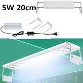 5W LED Luz para aquário 20 CM Luz de suporte para aquário Luz Aquário extensível Aquático Planta Luz para aquário 20-30cm
