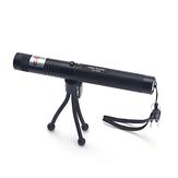 Caneta de ponteiro Laser com luz dupla PPT Laser Caneta de página com luz verde / vermelha Ajuste Bateria Carga com suporte