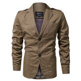Epaulet Military Spring Autumn Cotton Casual Blazer Giacche