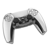 TPU Clear Shell Caso Joystick Grip Cover Sleeve para Playstation 5 PS5 Controller