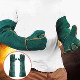 60cm Rękawice spawalnicze ze skóry wołowej Skórzana przekładnia z długim rękawem chroni przed ciepłem
