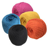 3mmX260m Macrame Rope Cotton String DIY Braided Wire Tools Black/Lake Blue/Orange/Rose Red/Yellow