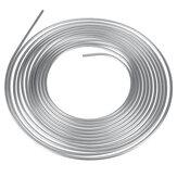 25ft Brake Pipe Copper Line 3/8'' OD Steel Zinc Silver Brake Line Fuel Tubing Kit
