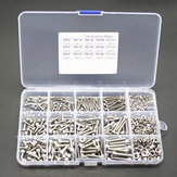 480pcs M2/M3/M4 Hex Socket Screws Set Cap Head Stainless Steel Screw Nuts Repair Tool