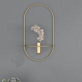 Bougeoir géométrique en fer forgé décoration Simple salon meuble TV mode Restaurant artisanat en métal créatif