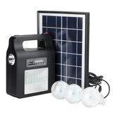 Gerador de Painel de Rádio de Energia Solar LED Sistema de Luz USB Charger FM Jardim Ao Ar Livre Luz Noturna Decorativa