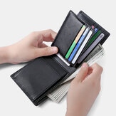 Men Genuine Leather Anti-theft Multi-slot Large Capacity Coin Bag Card Holder Wallet