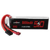 URUAV 7.4V 5000mAh 80C 2S Lipo Batería T Deans TRX Enchufe para RC Coche