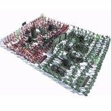 270 piezas soldados militares Kit de juguete ejército hombres figuras y accesorios modelo para caja de arena