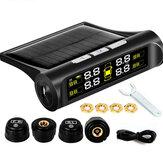 Kablosuz Solar TPMS LCD Araba Lastik Basıncı İzleme Sistemi + 4 Harici Sensör