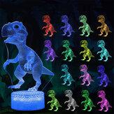 3D Illusion Lamba 16 Renkler Dinozor Oyuncaklar Gece Işığı Zamanlayıcı ile Uzakdan Kumanda Akıllı Dokunmatik Çocuk Oyuncak Doğum Günü için