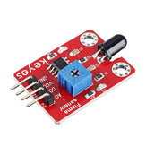 Keyes Brick Flame Sensor (pad hole) with Pin Header Module Digital Signal and Analog Signal