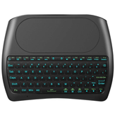 D8 Pro Plus i8 Mini Wireless Teclado Versión en inglés ruso con Touch Pad 2.4GHz 7 RGB Retroiluminación para Android Smart TV PC Xbox