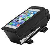 ROCKBROS B52 1.3L Bike Bag Bicycle Front Tube Bag Waterproof Portable Cycling Storage Bag 6.2inch Phone Touch Screen Bag