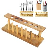 Test Tube Stand Wooden 6 Hole With Drying Rack Lab Equipment Burette Stand