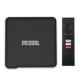 Mecool KM1 S905X3 ATV 4 GB DDR RAM 32GB EMMC ROM Android 9.0 TV Scatola 2.4G 5G WIFI bluetooth 4.2 Supporto certificato Google 4K YouTube Prime Video Assistente Google