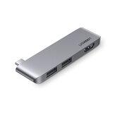 Ugreen Estação de acoplamento para laptop Type-c Expansão para USB HDMI Hub Adaptador de conexão de porta para notebook