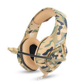 ONIKUMA K1B Camouflage Gaming Headset 3.5mm Wired Bass Gaming Headphone Stereo Headphones Earphone with Microphone for PS4 Computer PC Gamer