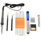 60W einstellbare elektrische Temperatur Pistole Schweißen Lötkolben Werkzeuge Satz Set