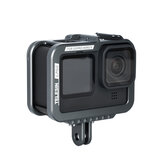 TELESIN Aluminum Protective Case for GoPro Hero 9 Camera Frame Housing Cage with Removable Backdoor and Cold Shoe Mount