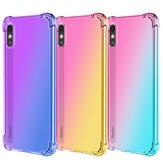 Bakeey Gradient Color with Four-Corner Airbags Shockproof Translucent Soft TPU Protective Case for Xiaomi Redmi 9A Non-original