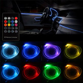 RGB LED Optical Fiber Neon EL Strip Light Car Interior Decoration Lamp Flexible Tube APP Remote Control 5m