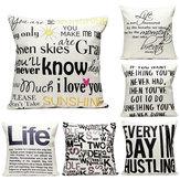 43x43 centímetros carta Inglês decoração sofá-cama fronha lençóis de algodão moda casa assento de carro almofada