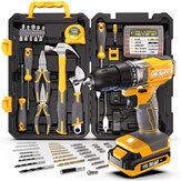 Hi-Spec 80-teiliger 18-V-Bohrschrauber und Garagenwerkzeug Satz Set Komplette DIY-Reparatur mit elektrischem Schraubendreher und Bohrer für das Büro und die Werkstatt im Haushalt